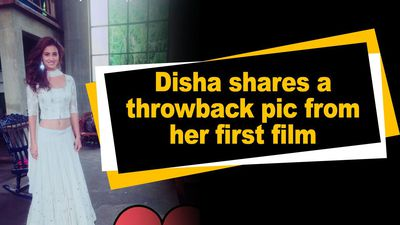 Disha shares shares a throwback pic from her first film