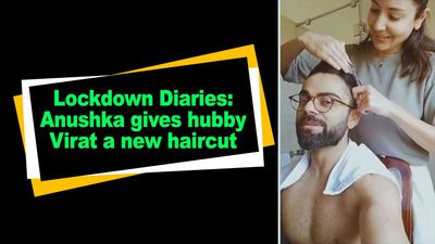 Lockdown Diaries Anushka gives hubby Virat a new haircut