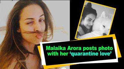 Malaika Arora posts photo with her quarantine love