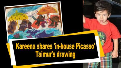 Kareena shares in house Picasso Taimur drawing