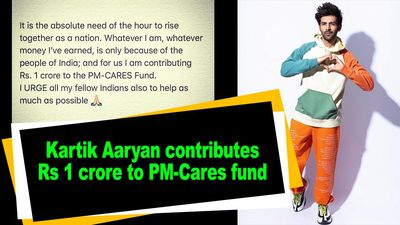 Kartik Aaryan contributes Rs 1 crore to PM Cares fund