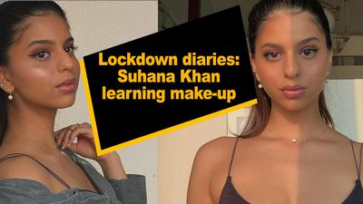 Lockdown diaries Suhana Khan learning make up