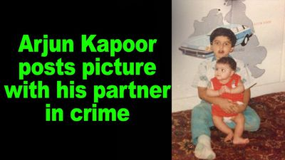 Arjun Kapoor posts picture with his parter in crime