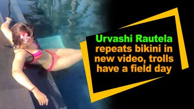 Urvashi Rautela repeats bikini in new video trolls have a field day