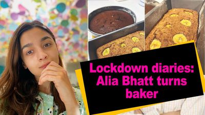 Lockdown diaries Alia Bhatt turns baker
