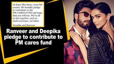 Ranveer and Deepika pledge to contribute to PM cares fund