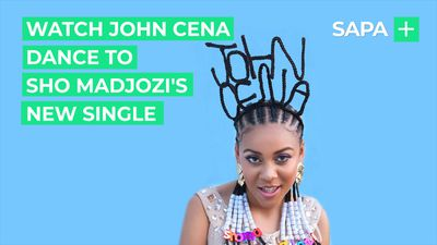 John Cena jives on Ellen to Sho Madjozi's new single