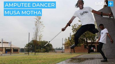 Amputee dancer Musa Motha is making a name for himself