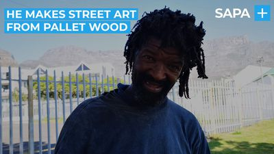 How Michael uses pallet wood to create street art