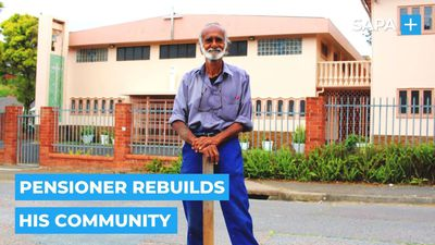 Pensioner, Tony Pillay from Havenside, rebuilds his community