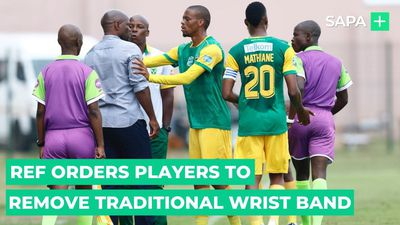 Referee orders Golden Arrows players to remove traditional wrist band