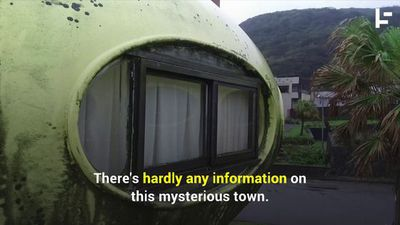 This Eerie Ghost Town Has Houses Shaped Like UFOs