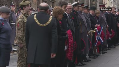 Britain falls silent to mark 100 years since end of war