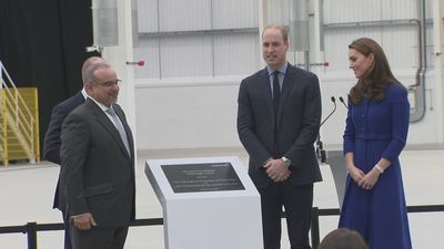 Prince William and Kate open McLaren centre