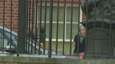 PM seen leaving Downing St as she heads to Brussels