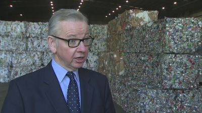 Michael Gove announces 'polluter pays' recycling scheme