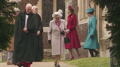 Queen departs Sandringham after Christmas Day church service
