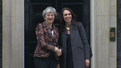 May welcomes Ardern to Downing Street