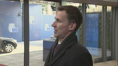 Jeremy Hunt: UK 'committed' to Good Friday Agreement