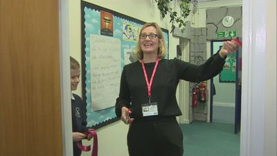 Amber Rudd opens new library in Silverdale Primary School