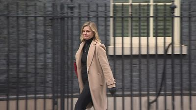 Justine Greening arrives at Number 10 Downing Street