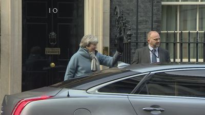 Theresa May leaves Number 10 for Article 50 vote