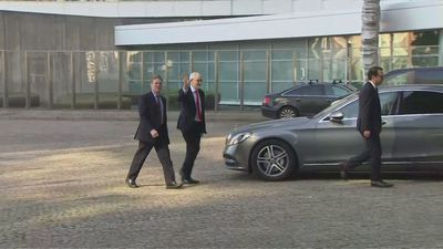 Corbyn and Starmer arrive in Brussels for Brexit talks