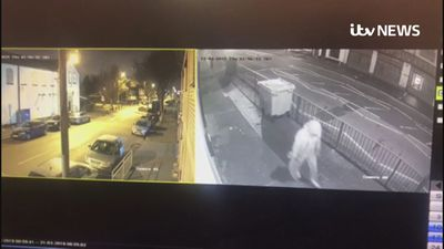 CCTV shows man vandalising Birmingham Mosque
