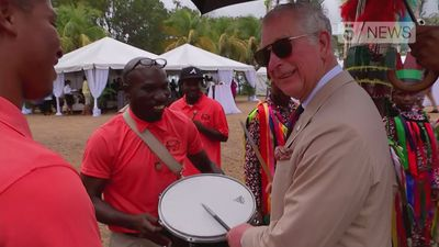 Prince Charles gets musical in St Kitts and Nevis