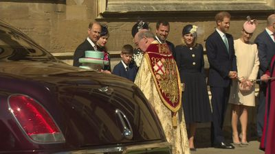 The Royal family at Easter Sunday Service in Windsor