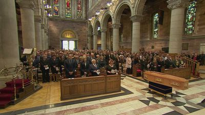 Political leaders join friends and family for McKee funeral