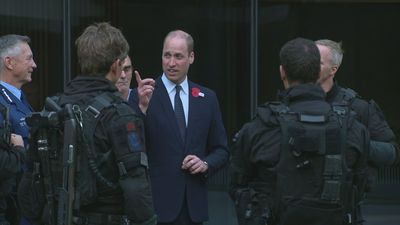 William meets Christchurch first responders in New Zealand