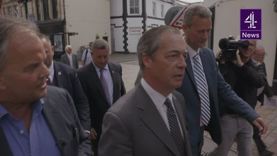 Reporter accuses Nigel Farage of being funded by Arron Banks