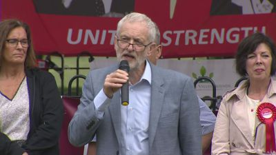 Corbyn warns of resurgent far-right at EU election launch