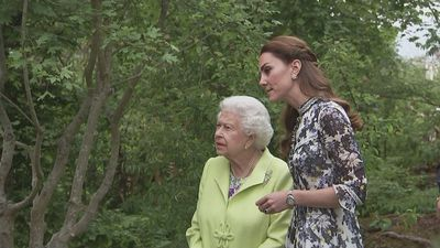 The Queen visits Kate's garden at the Chelsea Flower Show