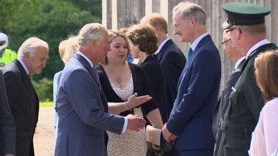 Prince Charles and Camilla attend garden party in Fermanagh