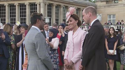 William and Kate join Queen for Garden Party