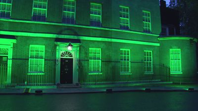 Downing Street lit green for Grenfell two year anniversary