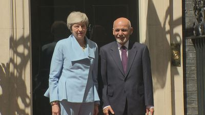 Theresa May meets Afghanistan president at 10 Downing Street