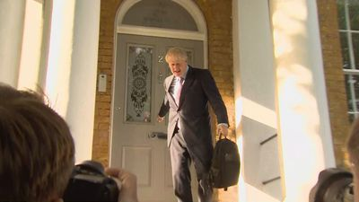 Boris Johnson leaves home ahead of second round of votes