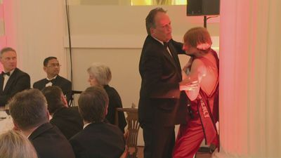 Mark Field MP grapples with climate protestor