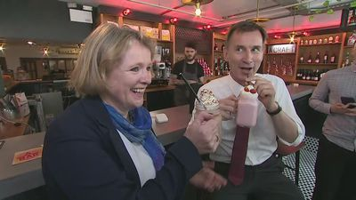 Hunt's 'milkshake moment' during visit to Essex