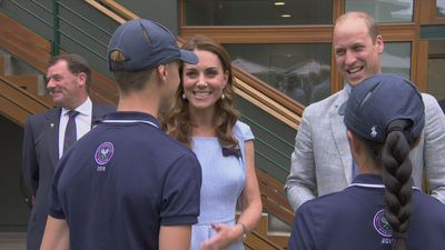 The Duke and Duchess of Cambridge arrive at Wimbledon