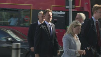 Jeremy Hunt arrives for final leadership debate