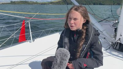 Greta Thunberg sets sail on zero-carbon journey