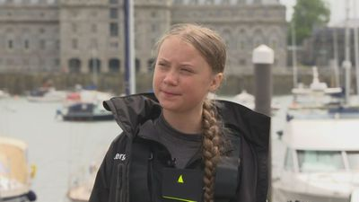 "Thunberg admits her journey is a ""big challenge"""