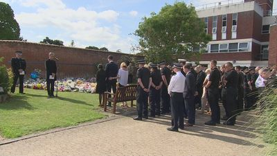 Police officers hold minute's silence for PC Andrew Harper