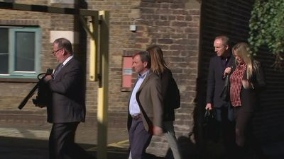 Family of Owen Carey arrive at Southwark Coroners Court