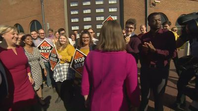 Jo Swinson arrives in Bournemouth for Lib Dem conference