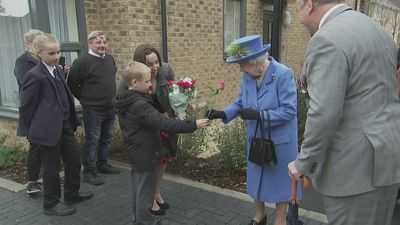 The Queen opens new housing development for army veterans